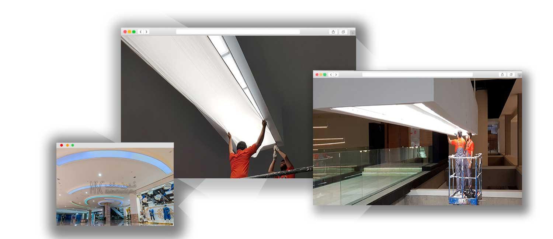تیم حرفه ای مدرن سقف