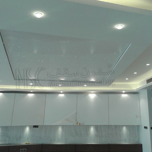 سقف-کشسان با نورپردازی نقطه ای