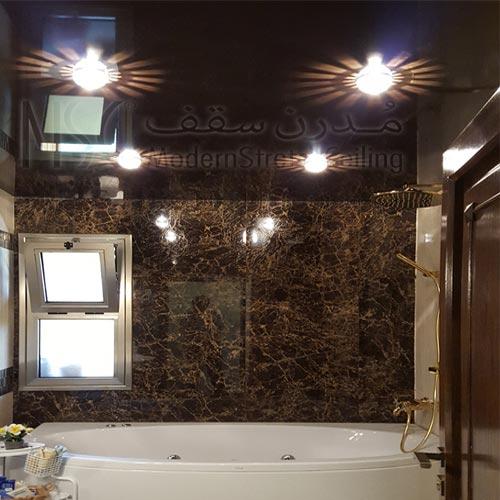 نورپردازی سقف کشسان در سرویس بهداشتی